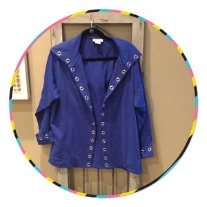 Cardigan with Grommets